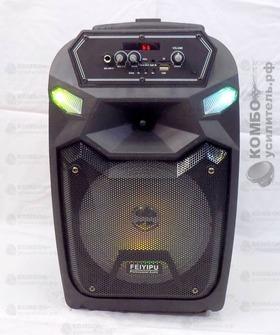 Feiyipu ES 06S Портативная колонка Микрофон, Пульт, Блок питания mUSB USB/ mSD/ BT/ FM/ AUX/ LED, Купить Kombousilitel.ru, Активная акустика