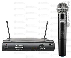 XLine MD-261A Радиосистема одноканальная с ручным передатчиком, Купить Kombousilitel.ru, Микрофоны беспроводные